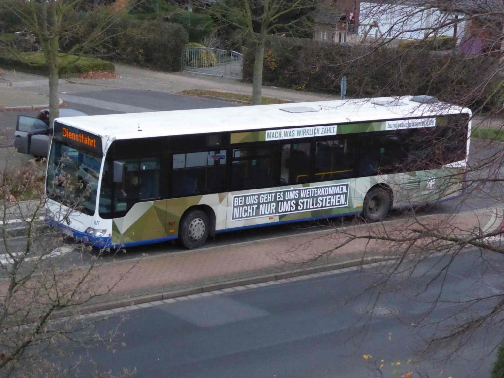BW-Werbung auf Bus